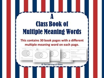 Multiple Meaning Words: A Class Book