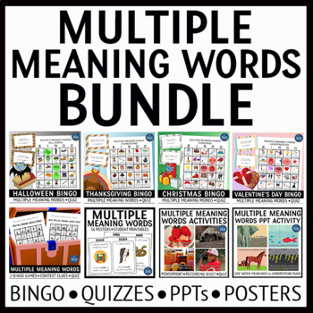 Multiple Meaning Words Bundle