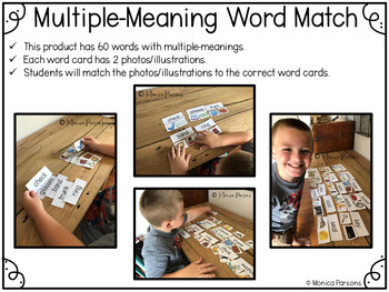Multiple-Meaning Words Activities for First Grade