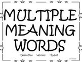 Multiple Meaning Words Activity