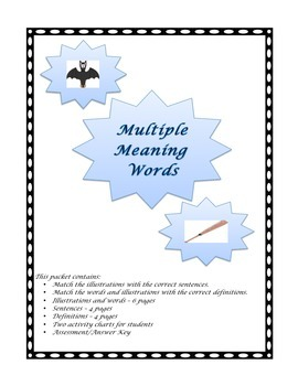 Multiple Meaning Words Activity Packet