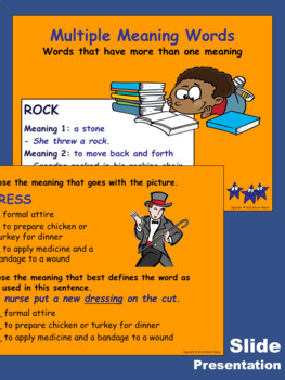 Multiple Meaning Words Activity Sheets