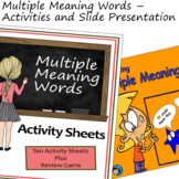 Multiple Meaning Words - Activities and Slide Presentation