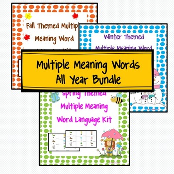 Multiple Meaning Words All Year Bundle