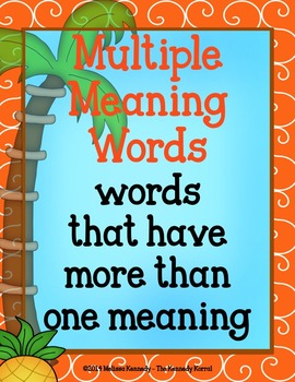 Multiple Meaning Words {Anchor Charts, Center, Worksheets & MORE!}
