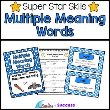 math worksheet : multiple meaning words assessments games and worksheets by  : Multiple Meaning Words Worksheet 4th Grade