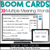 Multiple Meaning Words BOOM™ Cards for Speech Therapy Distance Learning