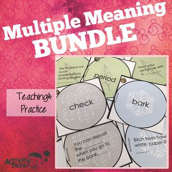 Multiple Meaning Words BUNDLE!