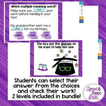 Multiple Meaning Words Boom Card Bundle