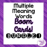 Multiple Meaning Words Boom Cards™️ Bundle