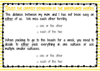 Multiple Meaning Words Boom Cards