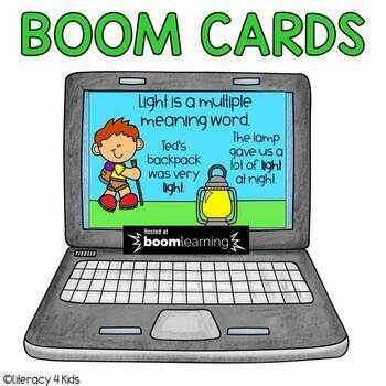 Multiple Meaning Words Boom Cards (Digital Task Cards) for grades 2-3