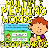 Multiple Meaning Words Boom Cards (Digital Task Cards) for