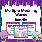 Multiple Meaning Words: Games, Task Cards With QR Codes and Worksheets