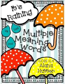 Multiple Meaning Words CCSS 1.L.4