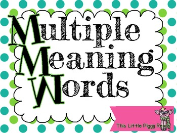 Multiple Meaning Words (CCSS and TEKS Aligned) STAAR Style Q's