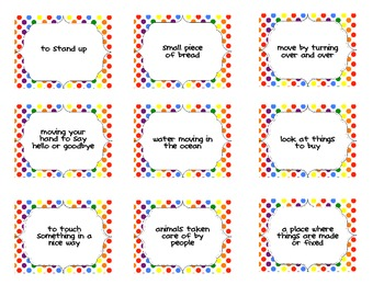 Multiple Meaning Words Card Sort