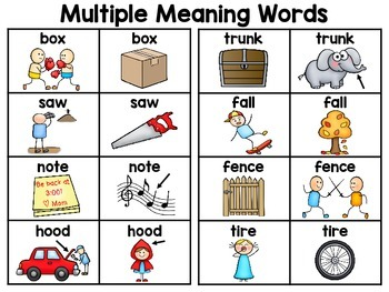 multiple meaning words worksheet 2nd grade