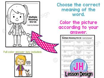 Multiple Meaning Words: Color-By-Number
