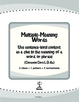 Multiple-Meaning Words (Common Core L.3.4a)