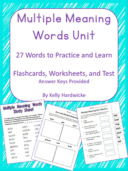 Multiple Meaning Words- Complete Unit