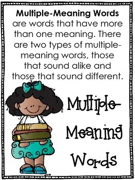 Multiple-Meaning Words Copy and Go Centers