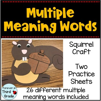 Multiple Meaning Words Craft