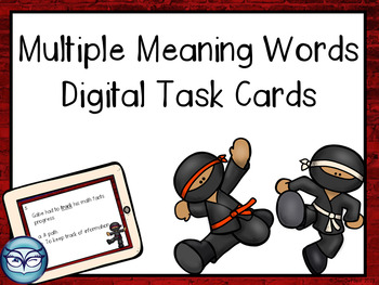 Multiple Meaning Words Digital Task Cards Test Prep