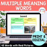 Multiple Meaning Words: Google Classroom and Print