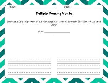27 best Multiple meanings words images on Pinterest | Multiple ...