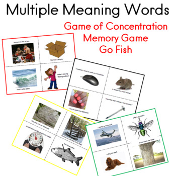 Multiple Meaning Words GO FISH