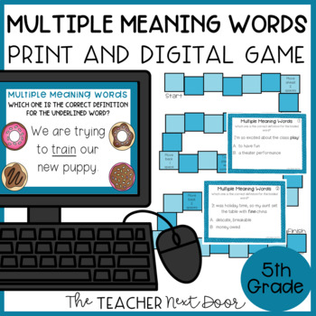 Multiple Meaning Words Game   Multiple Meaning Words Center