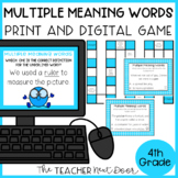 Multiple Meaning Words Game | Multiple Meaning Words Center Activity