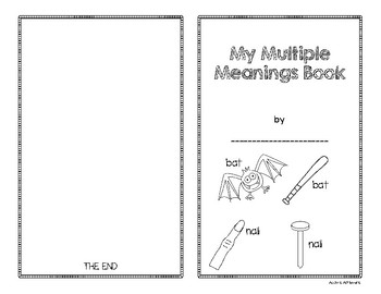 Multiple Meaning Words Game and Student Booklet