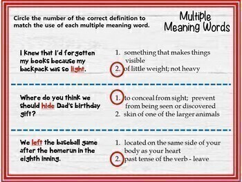 Multiple Meaning Words (Grades 3-4) - GOOGLE INTERACTIVE CLASSROOM!