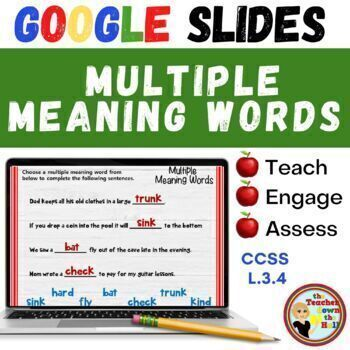 Multiple Meaning Words (Grades 2-4) - GOOGLE INTERACTIVE C
