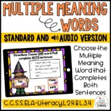 Multiple Meaning Words Halloween Theme Boom Cards