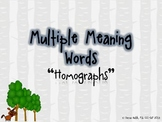 """Multiple Meaning Words """"Homographs"""" Mini-lesson!"""
