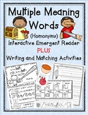 Multiple Meaning Words (Homonyms/Homographs)- Emergent Rea