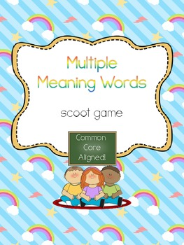 Multiple Meaning Words (Homonyms) Scoot- Common Core Aligned