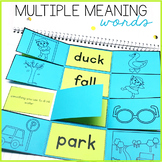 Multiple Meaning Words Interactive Notebook