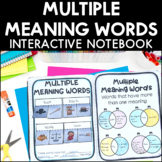 Multiple Meaning Words - Reading Interactive Notebook | Di