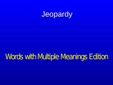 Multiple Meaning Words Jeopardy Review Game