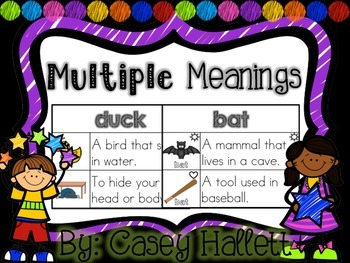 Multiple Meaning Words {K-2}