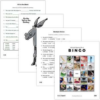 Multiple Meaning Words K-5 Pack