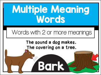 Multiple Meaning Words Anchor Chart- Use this anchor chart to help ...