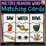 Multiple Meaning Words - Matching Cards