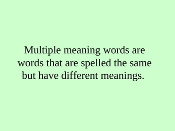 Multiple Meaning Words- Max Found Two Sticks