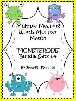 Multiple Meaning Words Monster Match Bundle Sets 1-4