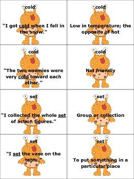 Multiple Meaning Words Monster Match Bundle Sets 5-7
